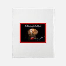 Phantom Doxie Throw Blanket