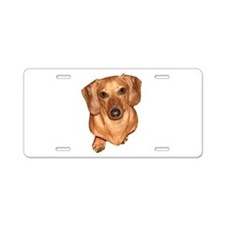 Tiger Dachshund Dog Aluminum License Plate