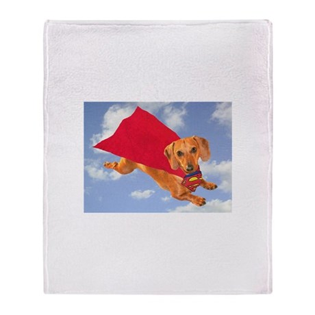 Super Dog Throw Blanket