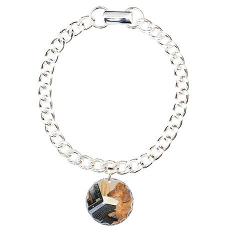 Tigs Computer Charm Bracelet, One Charm