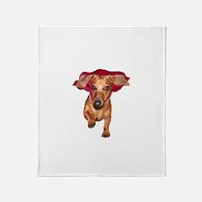 Super Dog Doxies Throw Blanket