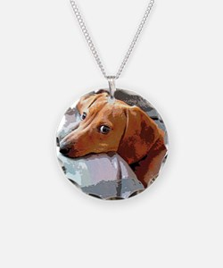Naptime Alone Doxie Necklace