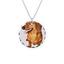 Red Smooth Hair Dachshund Dog Necklace