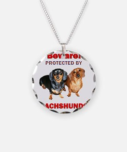 Protected By Dachshunds Necklace