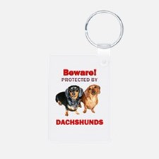 Protected By Dachshunds Keychains
