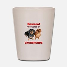 Protected By Dachshunds Shot Glass