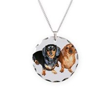 Double Dachshund Dogs Necklace