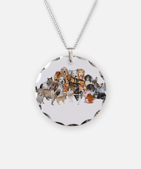 Other Dogs and Cats Necklace Circle Charm