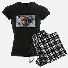 Needlepoint Look Dachshund Do Pajamas
