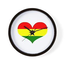 Ghana Heart Wall Clock