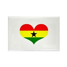 Ghana Heart Rectangle Magnet (100 pack)