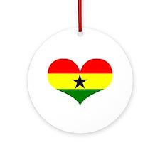 Ghana Heart Ornament (Round)