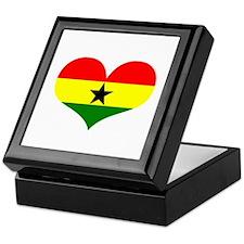 Ghana Heart Keepsake Box