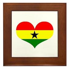 Ghana Heart Framed Tile