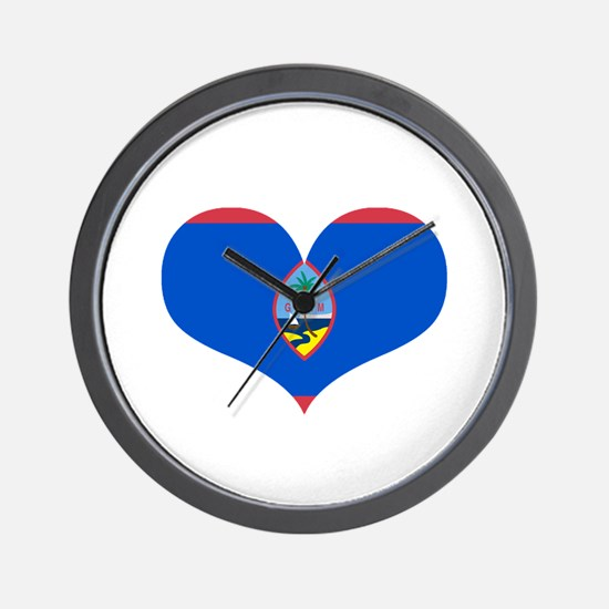 Guam Heart Wall Clock