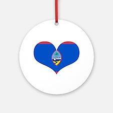 Guam Heart Ornament (Round)