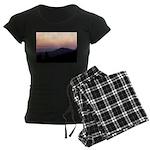 Mountain Sunset 2 Women's Dark Pajamas
