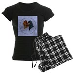 Dachshund Duo Women's Dark Pajamas