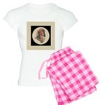 Longhaired Dachshund head stu Women's Light Pajama