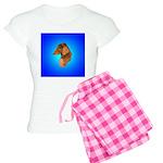 Long Coated Dachshund Profile Women's Light Pajama