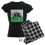 Bassett Hound Party guy!! Women's Dark Pajamas