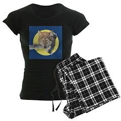 Timber Wolf Design Pajamas