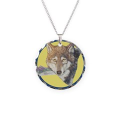 Timber Wolf Design Necklace
