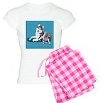 Siberian Husky and Puppy Women's Light Pajamas