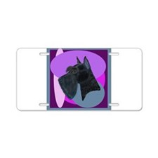 Giant Schnauzer Design Aluminum License Plate