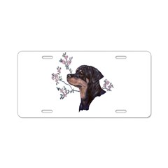 One lovely Rottie Bitch Aluminum License Plate