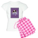 St. Bernard Puppy with flower Women's Light Pajama