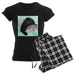 Sleepy Newfoundland Puppy Women's Dark Pajamas