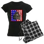 Black Poodle Women's Dark Pajamas