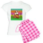 Cute English Bulldog Design Women's Light Pajamas