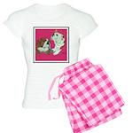English Bulldog Pair Women's Light Pajamas