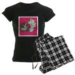 English Bulldog Pair Women's Dark Pajamas
