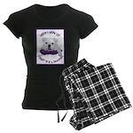 English Bulldog Puppy Women's Dark Pajamas