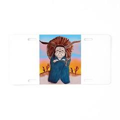 Chief Standing Bull Aluminum License Plate