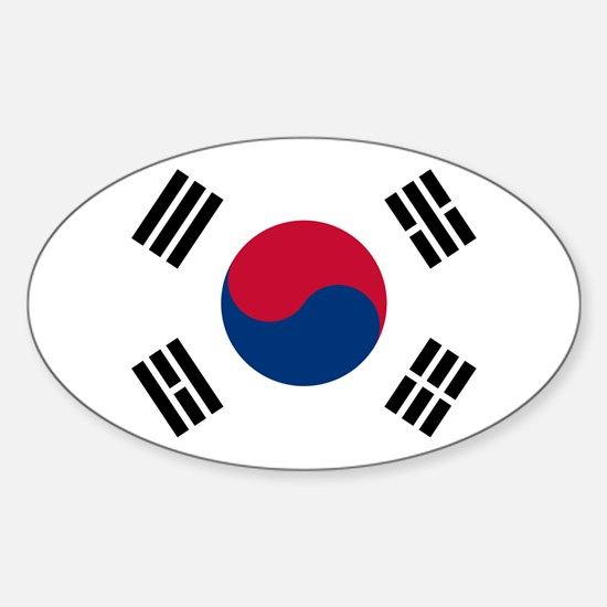 Korean Flag Sticker (Oval)