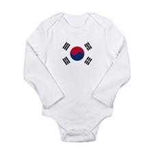 Korean Flag Long Sleeve Infant Bodysuit