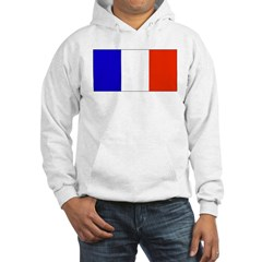 France French Blank Flag Hooded Sweatshirt