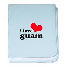 I Love Guam baby blanket