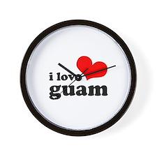 I Love Guam Wall Clock