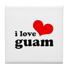 I Love Guam Tile Coaster