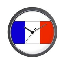France French Blank Flag Wall Clock