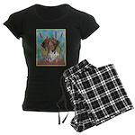 German Shorthair Pointer Women's Dark Pajamas