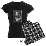 Cocker Spaniel parti colored Women's Dark Pajamas