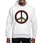 Tie Dye Peace and Love Hooded Sweatshirt
