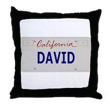 California David Throw Pillow