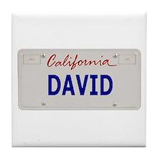 California David Tile Coaster